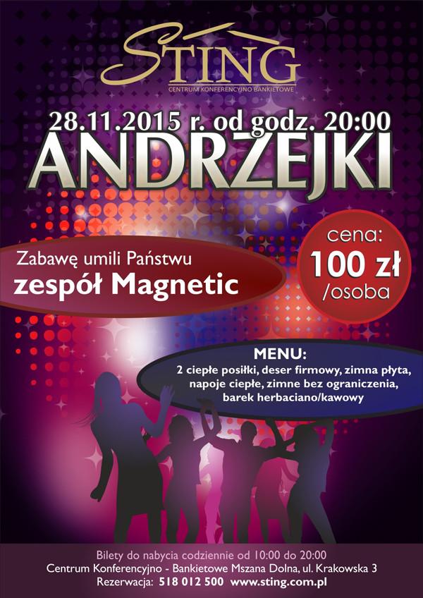 STING Andrzejki 2015 plakat