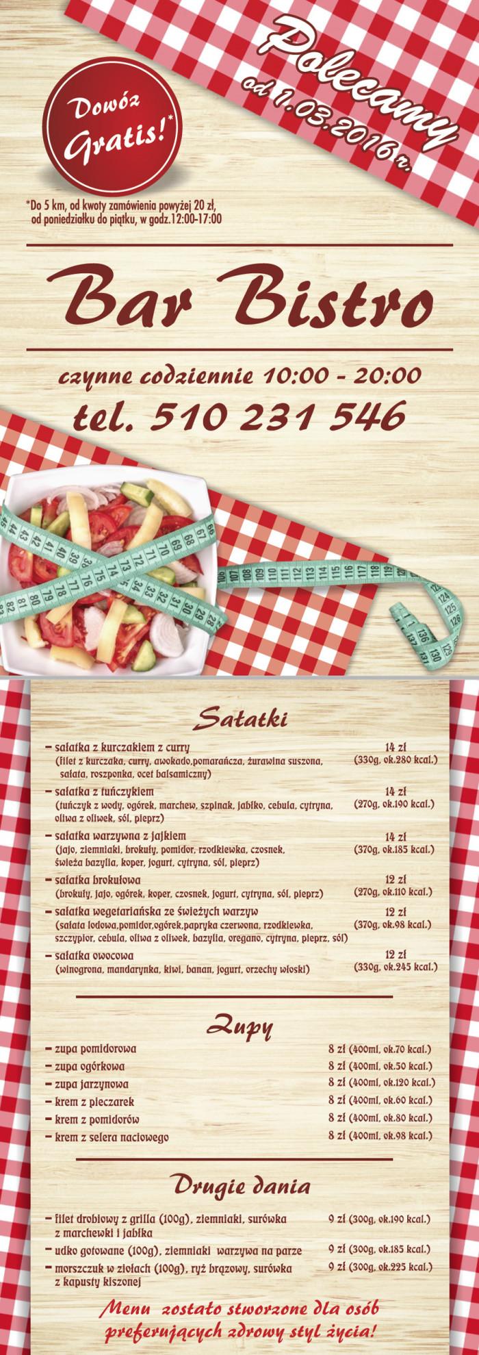 Sting Bistro menu Fresh