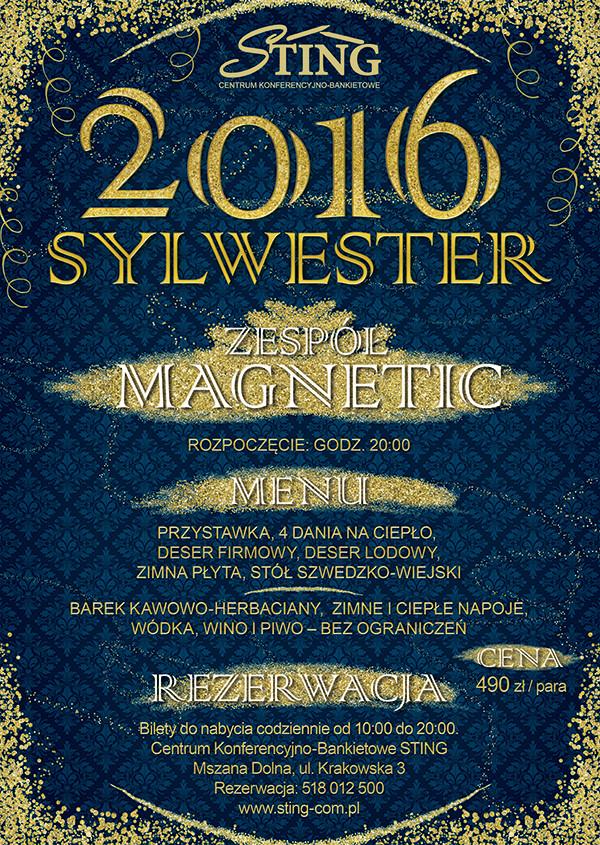 STING Sylwester 2016 plakat