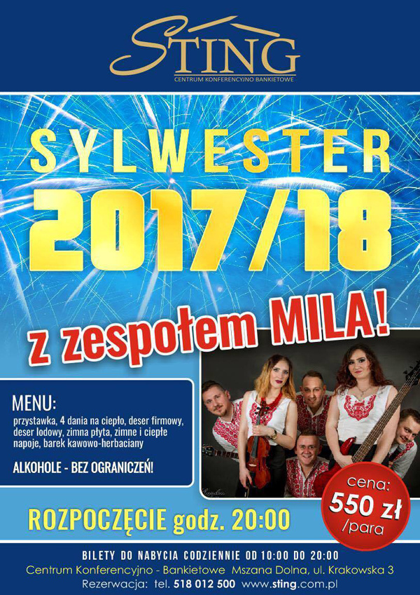 STING Sylwester 2017 plakat