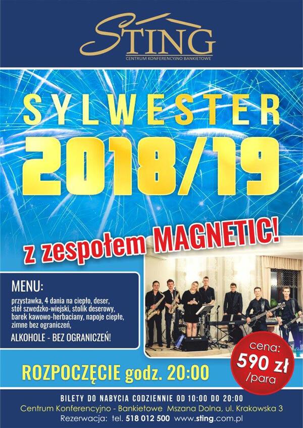 STING Sylwester 2018 plakat