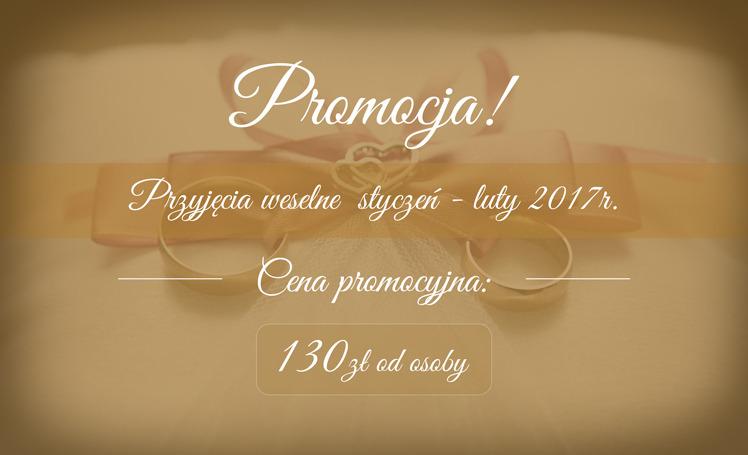 Baner promocyjny przyjęć weselnych w 2017 roku